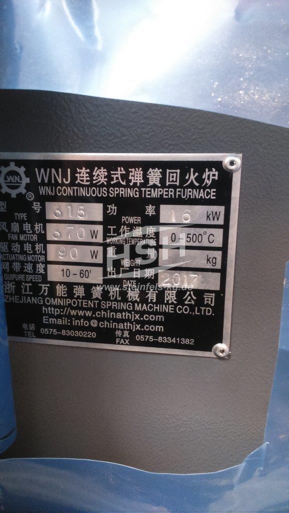 D42E/7855 – WNJ – 315 – 2017 – 0-500 °C